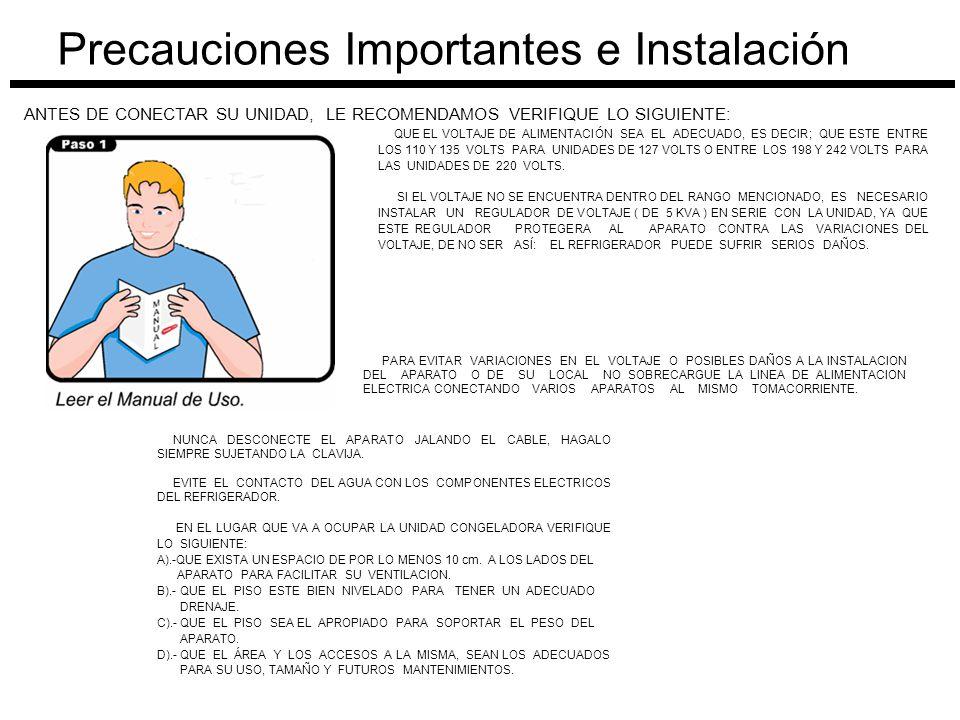Precauciones Importantes e Instalación