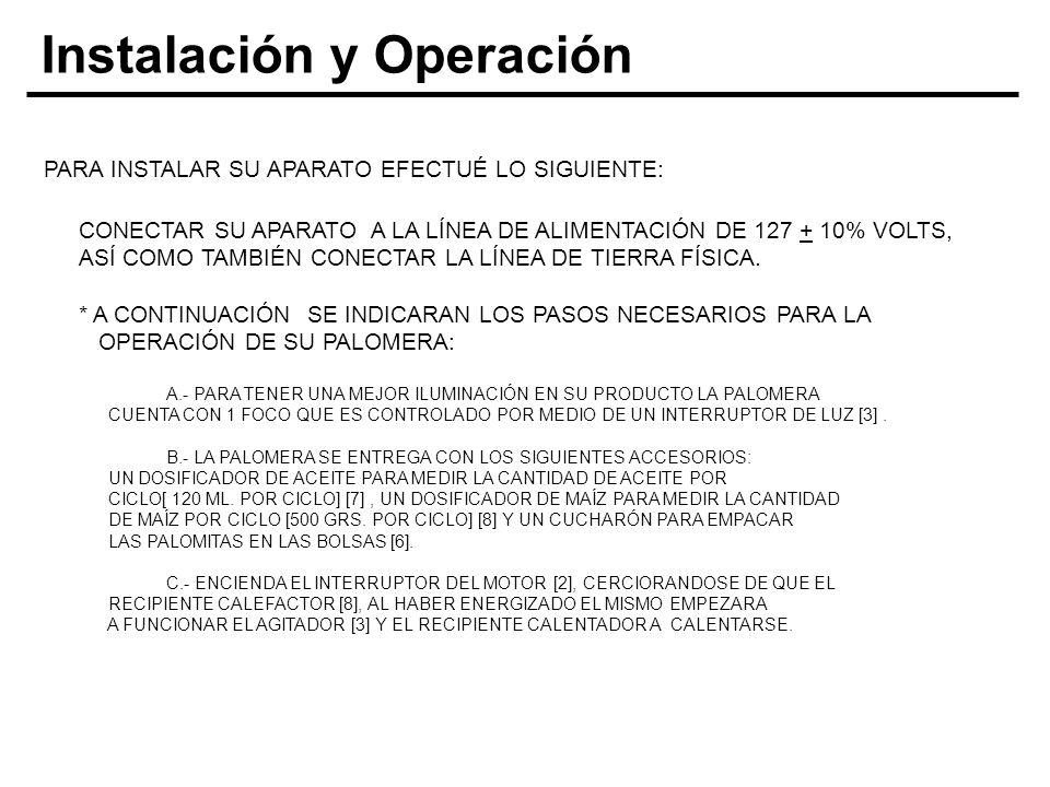 Instalación y Operación