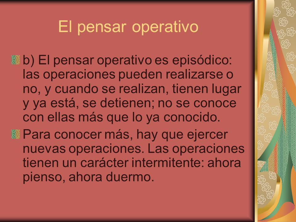 El pensar operativo
