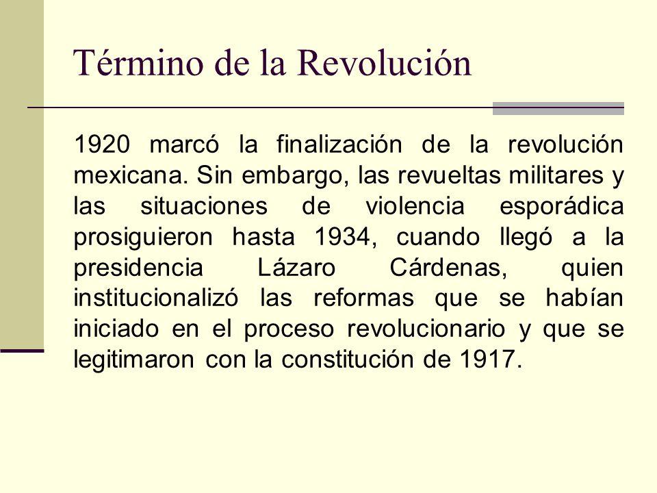 Término de la Revolución