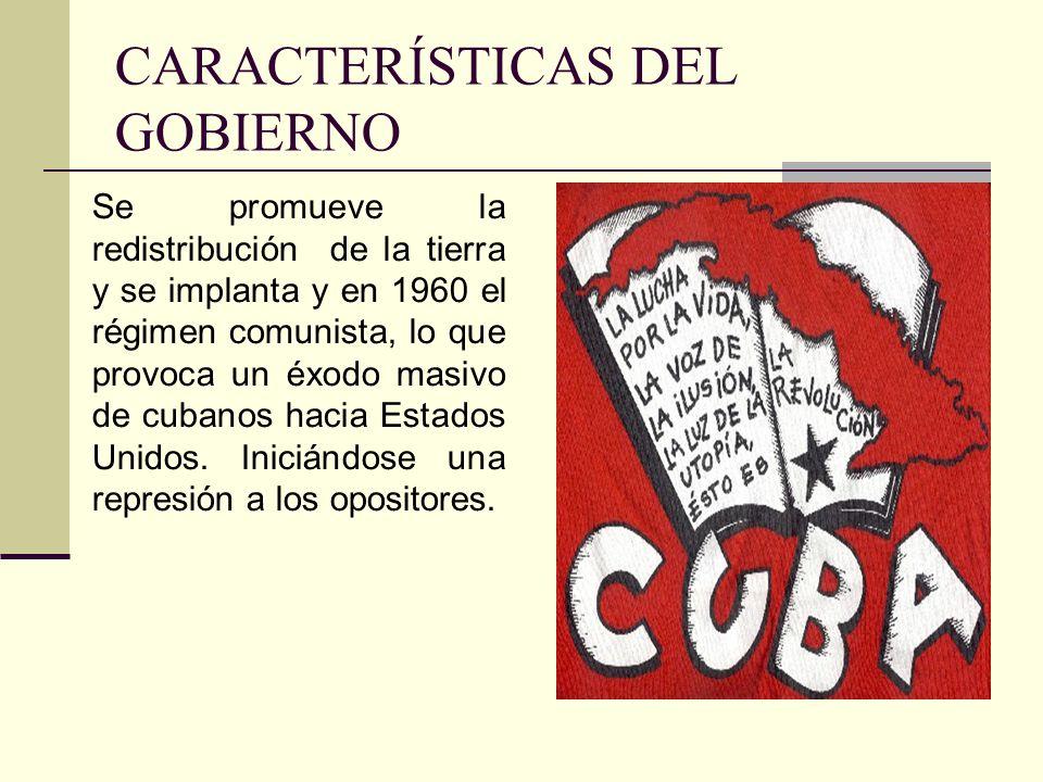 CARACTERÍSTICAS DEL GOBIERNO