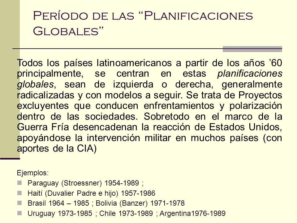 Período de las Planificaciones Globales