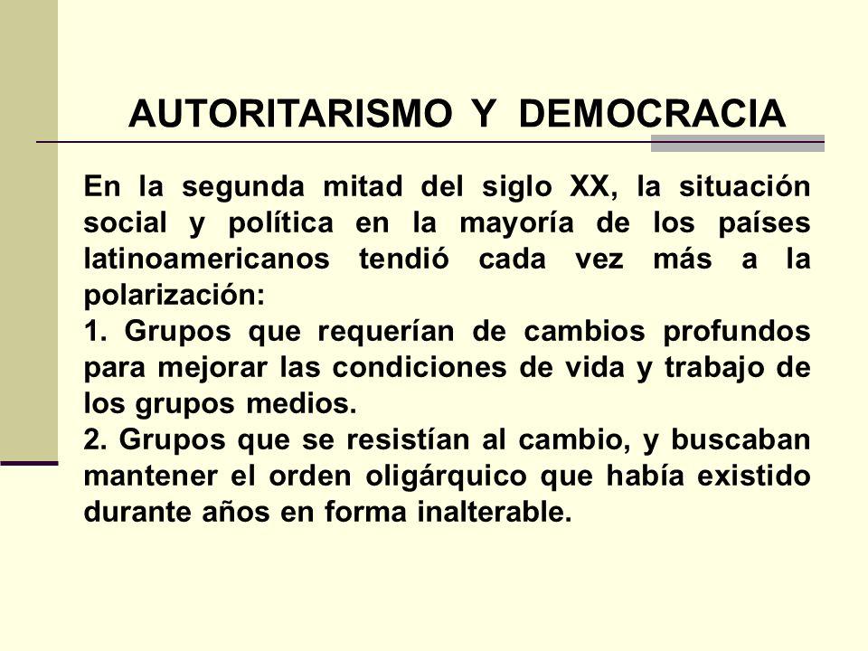 AUTORITARISMO Y DEMOCRACIA