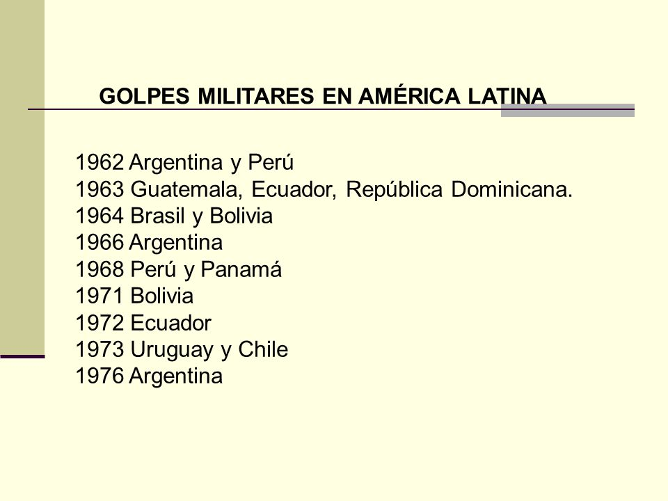 GOLPES MILITARES EN AMÉRICA LATINA