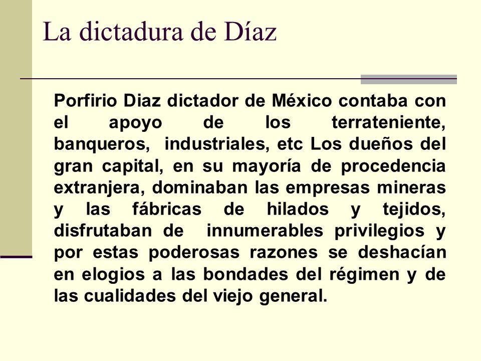 La dictadura de Díaz