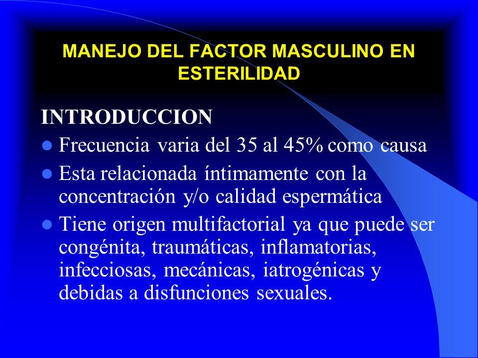 MANEJO DEL FACTOR MASCULINO EN ESTERILIDAD