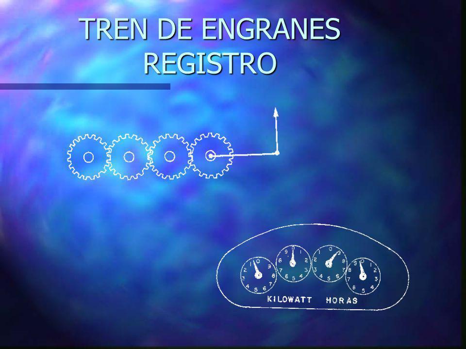 TREN DE ENGRANES REGISTRO