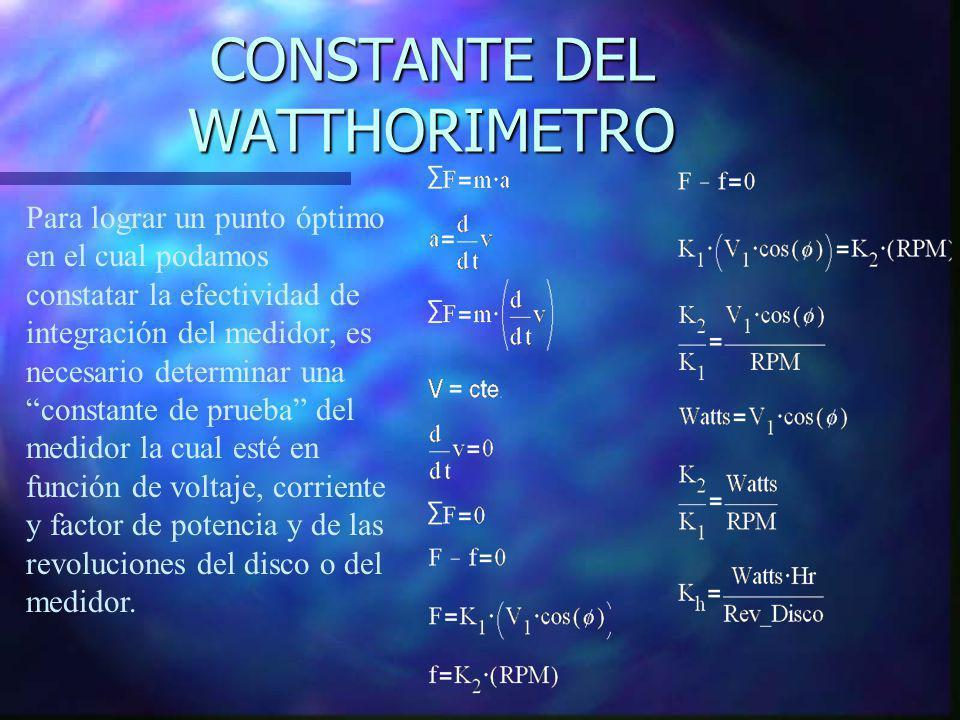 CONSTANTE DEL WATTHORIMETRO