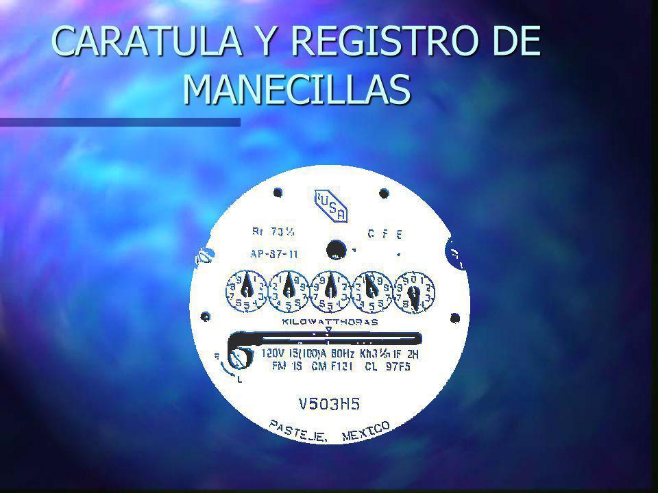 CARATULA Y REGISTRO DE MANECILLAS
