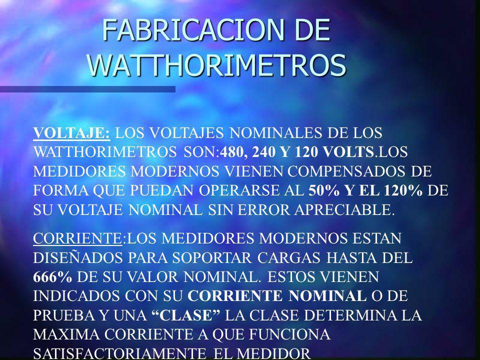 FABRICACION DE WATTHORIMETROS