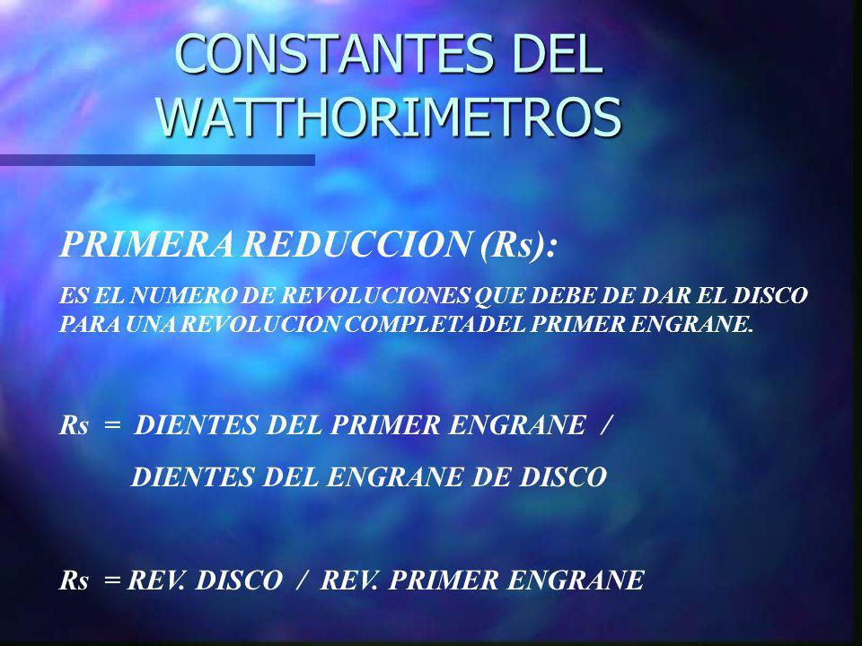 CONSTANTES DEL WATTHORIMETROS