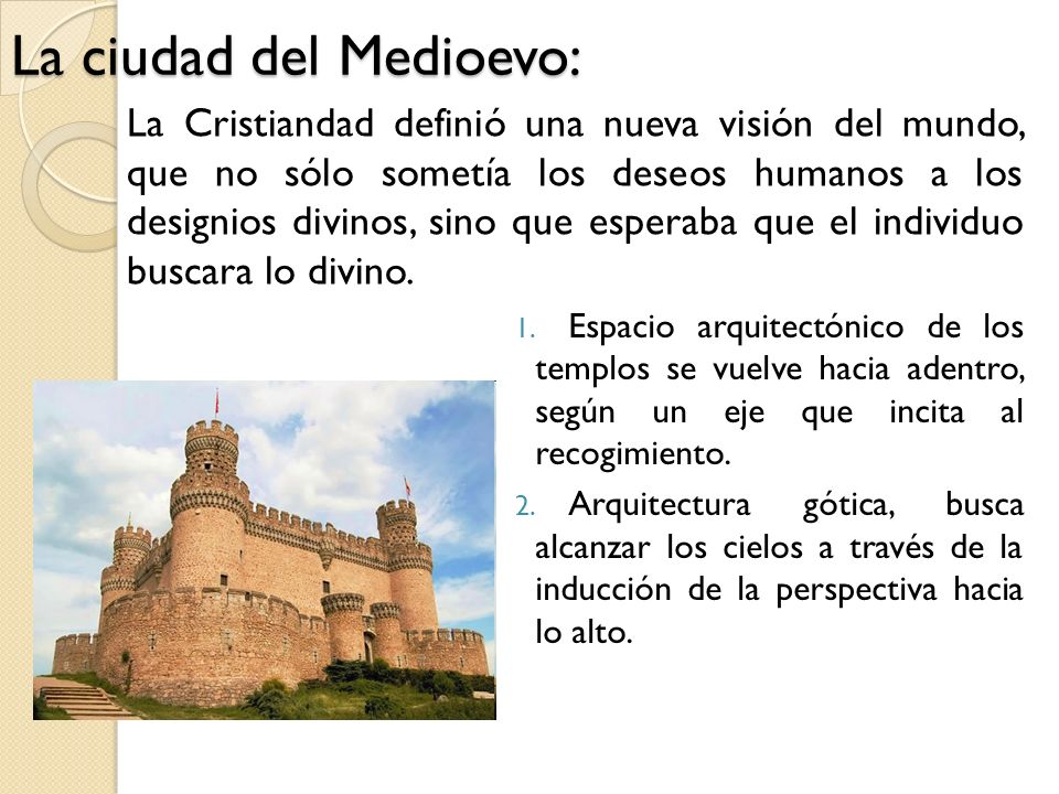 La ciudad del Medioevo: