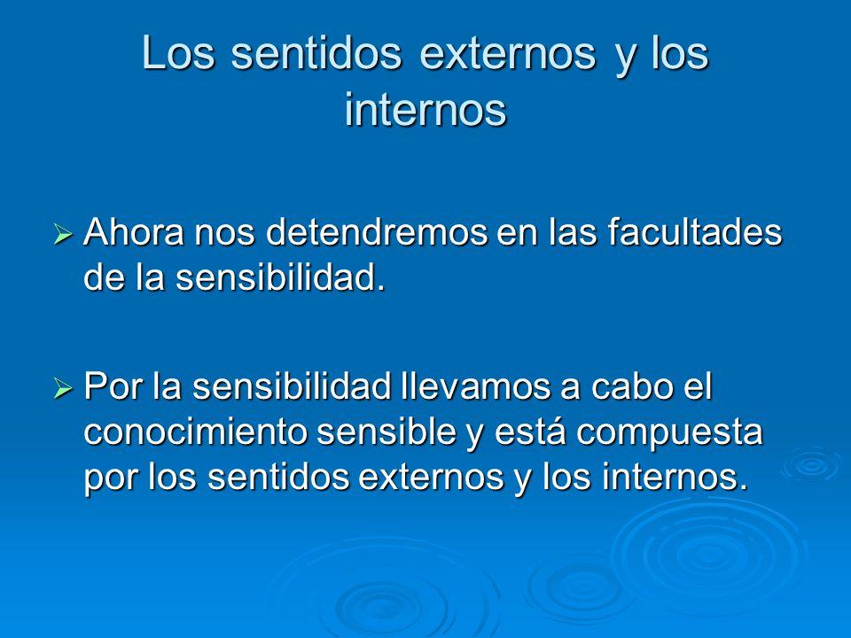 Los sentidos externos y los internos