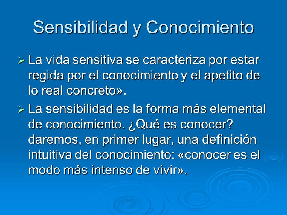 Sensibilidad y Conocimiento