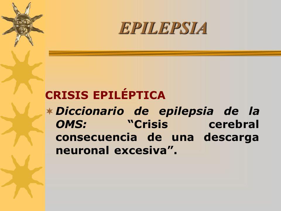 EPILEPSIA CRISIS EPILÉPTICA