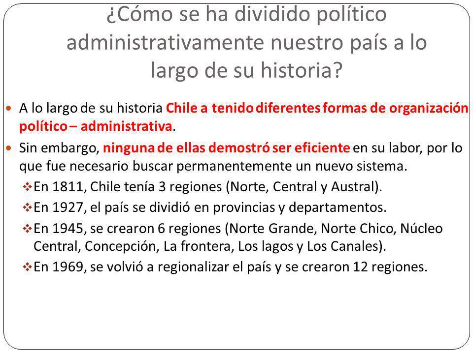 ¿Cómo se ha dividido político administrativamente nuestro país a lo largo de su historia