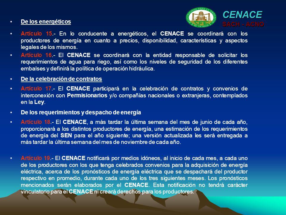 CENACE SACH - ACNO De los energéticos