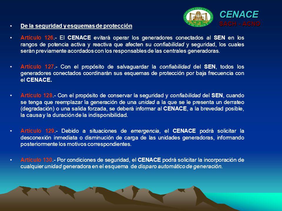 CENACE SACH - ACNO De la seguridad y esquemas de protección