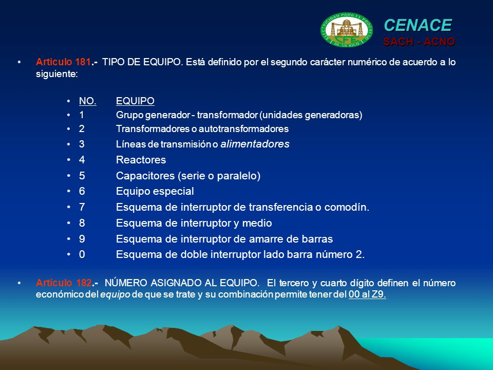 CENACE SACH - ACNO 4 Reactores 5 Capacitores (serie o paralelo)
