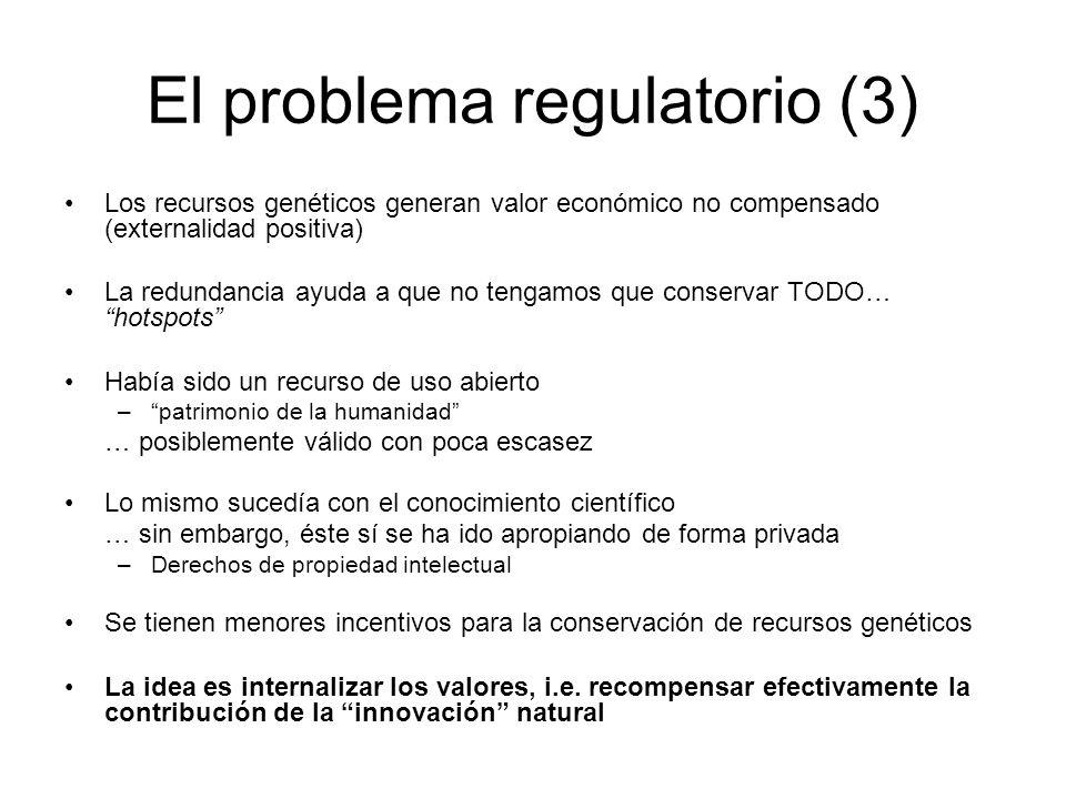 El problema regulatorio (3)