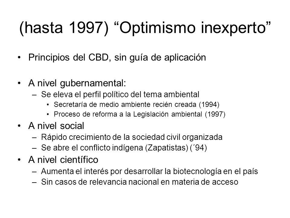 (hasta 1997) Optimismo inexperto