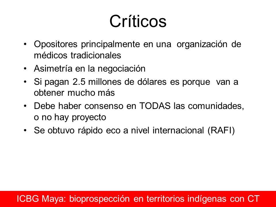 ICBG Maya: bioprospección en territorios indígenas con CT