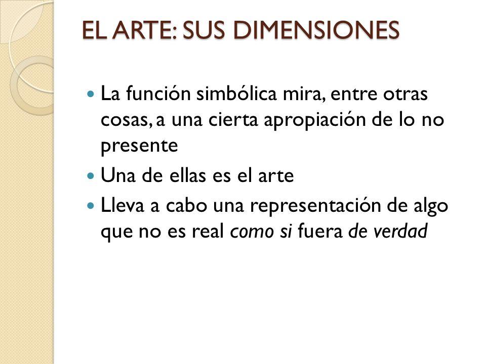 EL ARTE: SUS DIMENSIONES