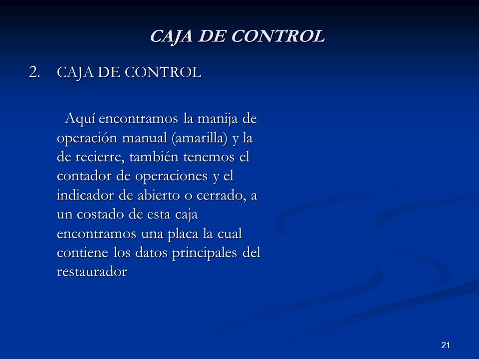 CAJA DE CONTROL CAJA DE CONTROL