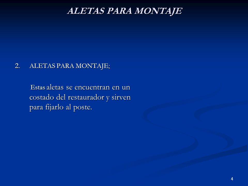 ALETAS PARA MONTAJE ALETAS PARA MONTAJE: