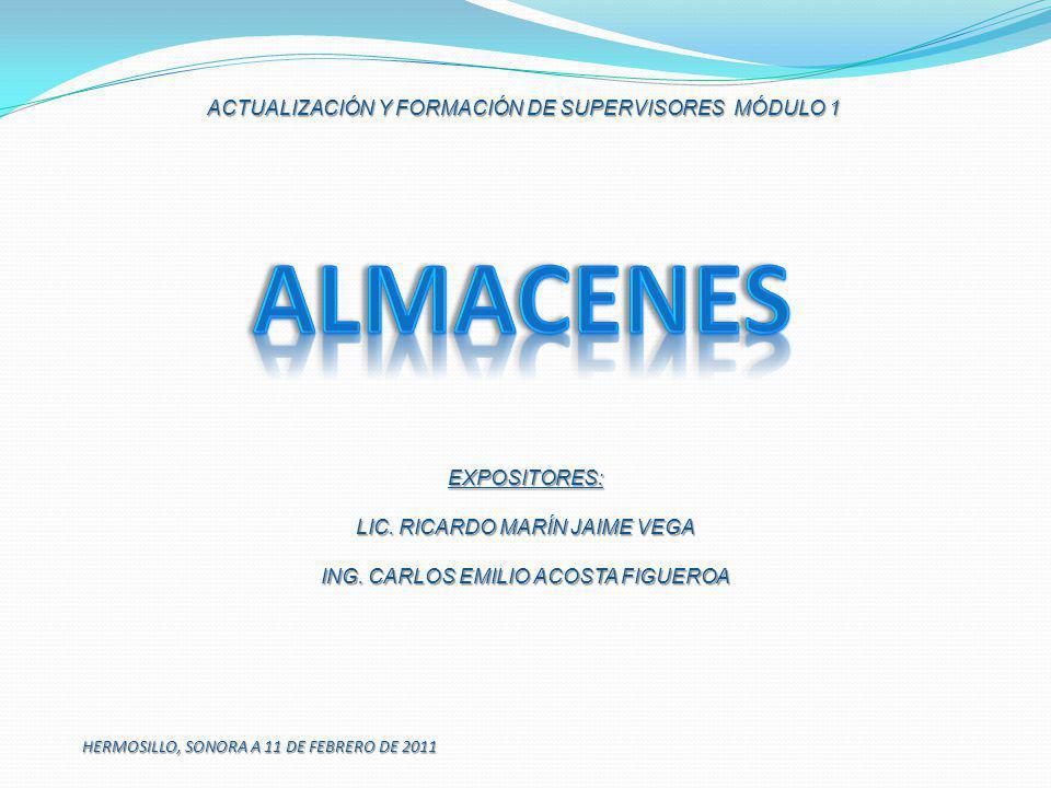 ALMACENES ACTUALIZACIÓN Y FORMACIÓN DE SUPERVISORES MÓDULO 1