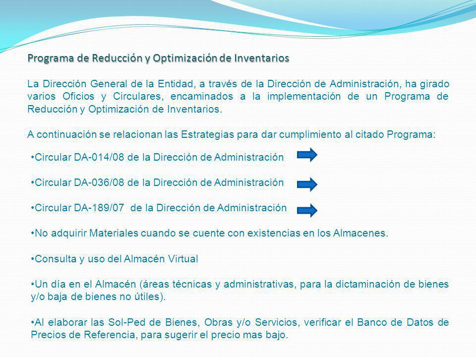 Programa de Reducción y Optimización de Inventarios