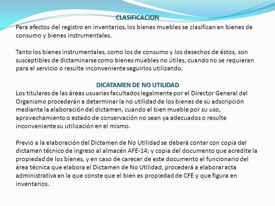 DICATAMEN DE NO UTILIDAD
