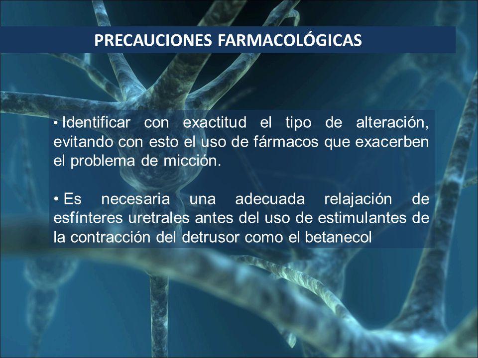 PRECAUCIONES FARMACOLÓGICAS