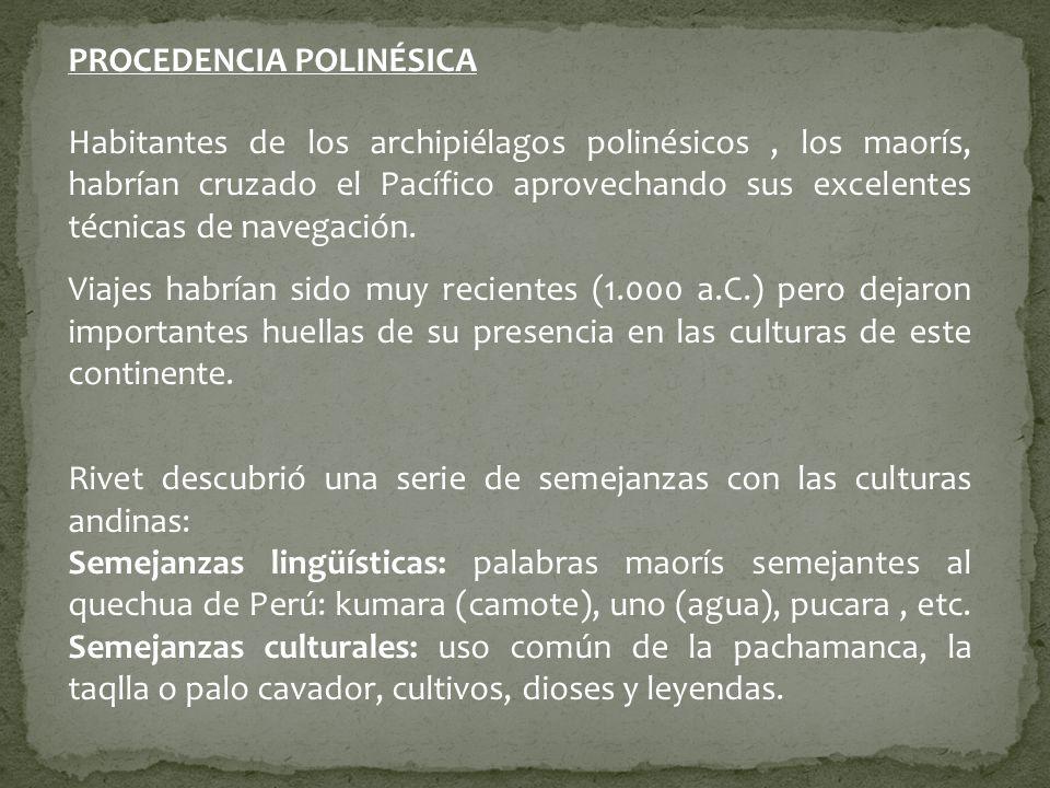 PROCEDENCIA POLINÉSICA