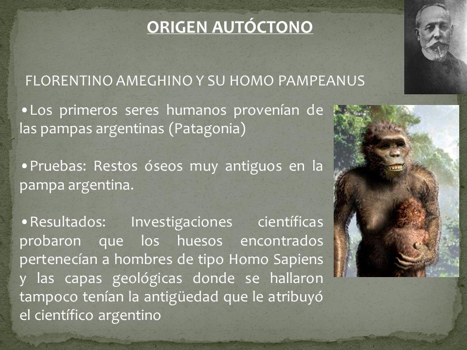 ORIGEN AUTÓCTONO FLORENTINO AMEGHINO Y SU HOMO PAMPEANUS
