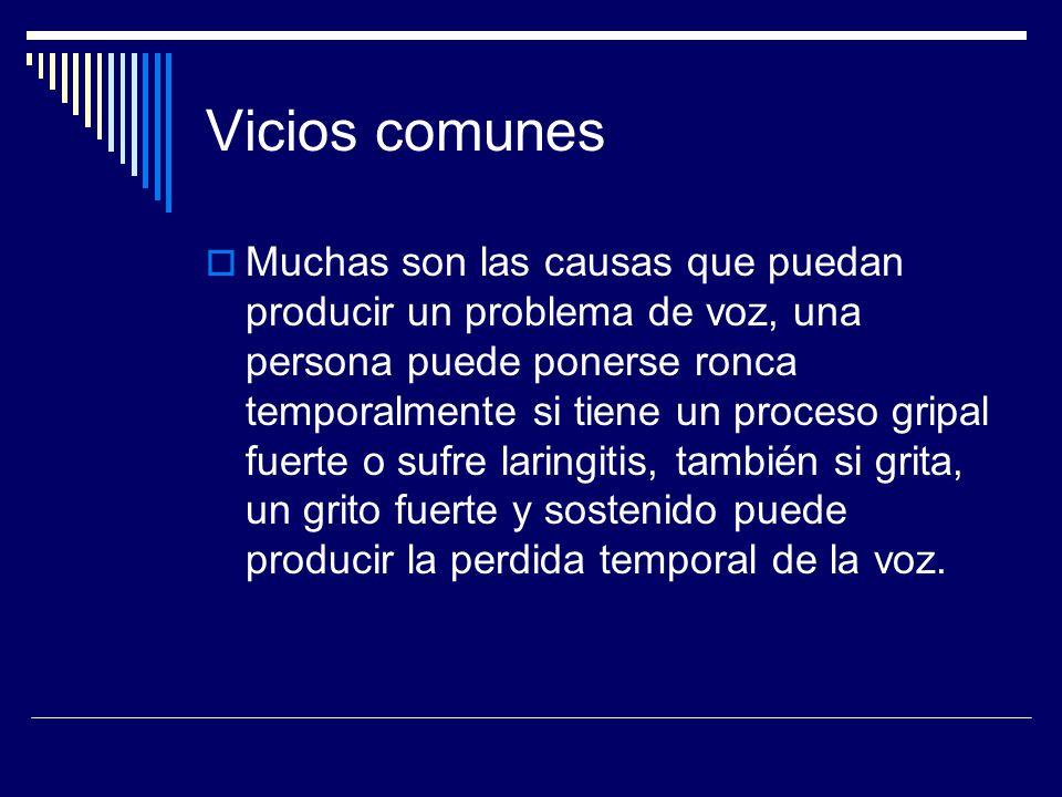 Vicios comunes