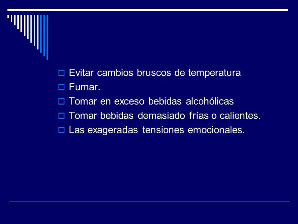 Evitar cambios bruscos de temperatura