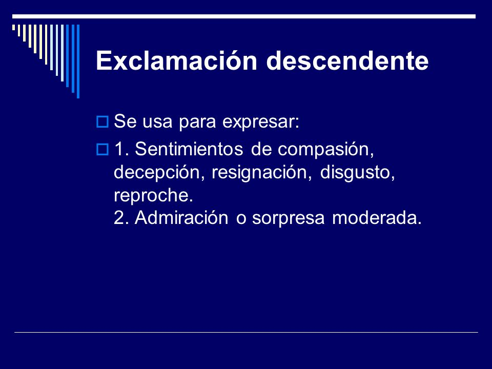 Exclamación descendente