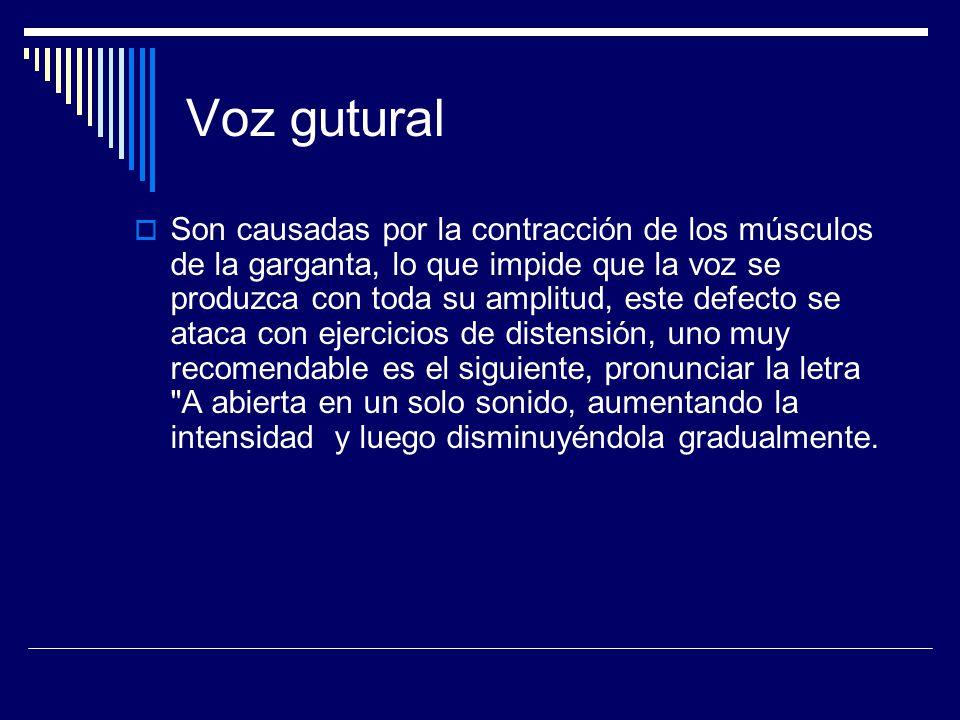 Voz gutural