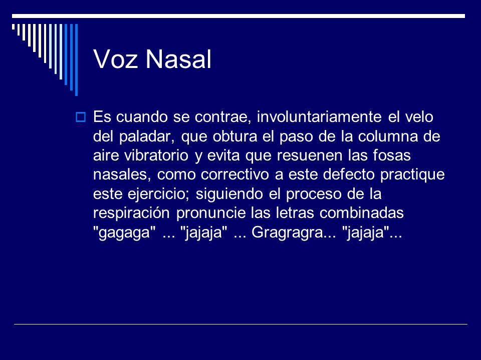 Voz Nasal