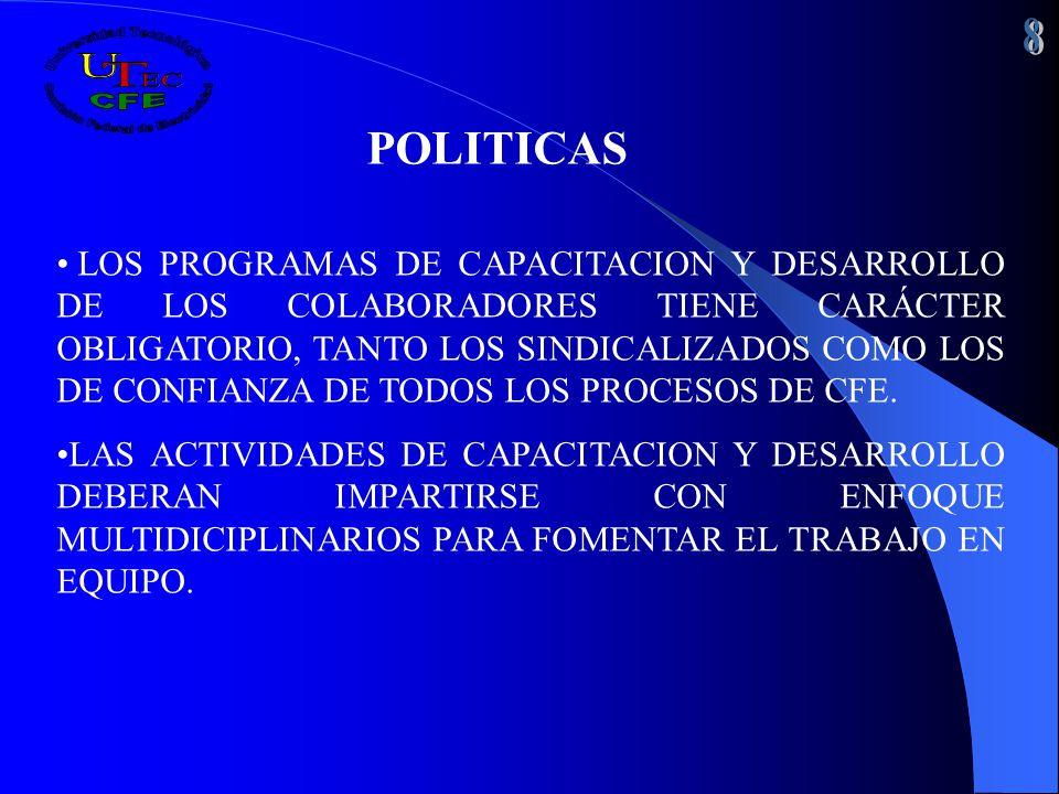 8 POLITICAS.