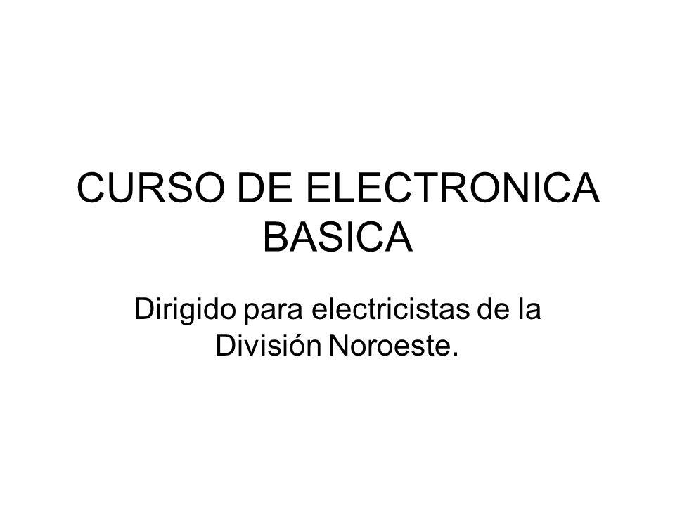 CURSO DE ELECTRONICA BASICA