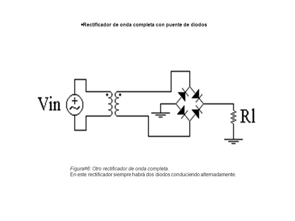 Rectificador de onda completa con puente de diodos