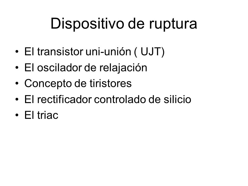 Dispositivo de ruptura