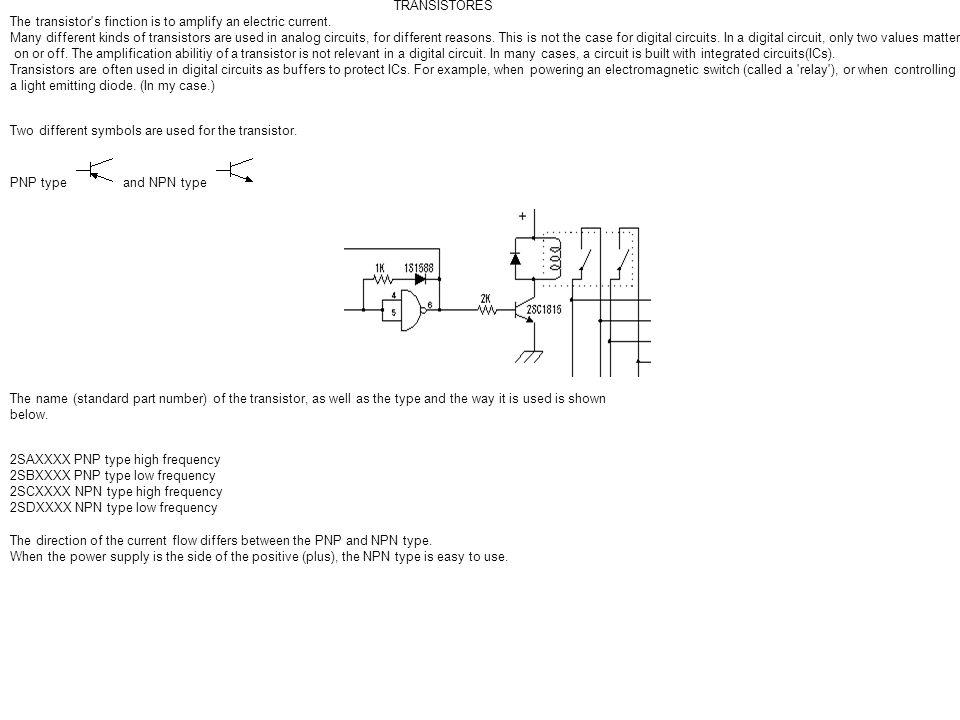 Transistors TRANSISTORES