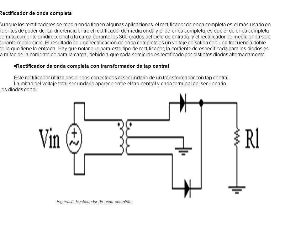 Figura#4: Rectificador de onda completa.
