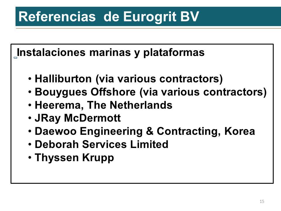 Referencias de Eurogrit BV