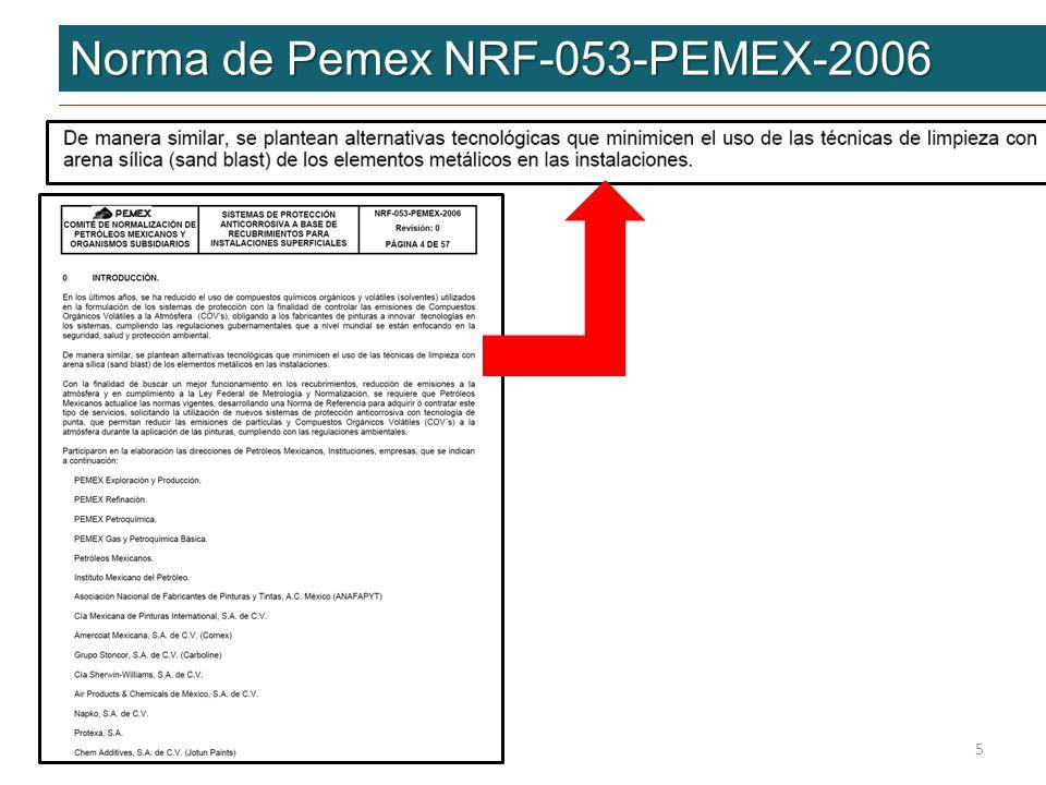 Norma de Pemex NRF-053-PEMEX-2006