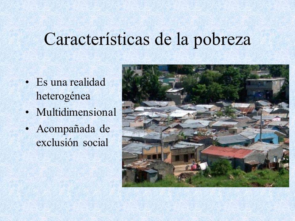 Características de la pobreza