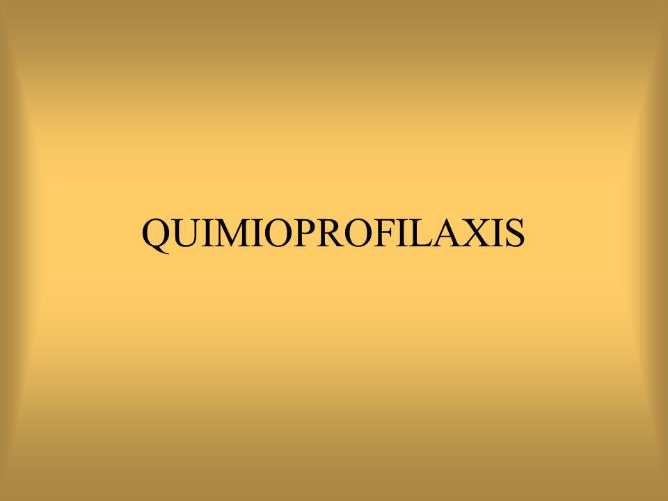 QUIMIOPROFILAXIS Tratamiento para evitar la infección o la enfermedad